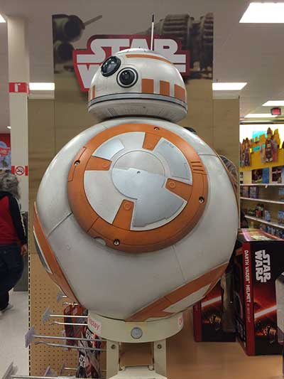 BB8 Toy Display