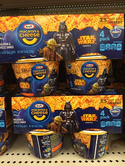 Star Wars Kraft Mac and Cheese Single Serve