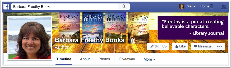 Barbara Freethy Facebook Page