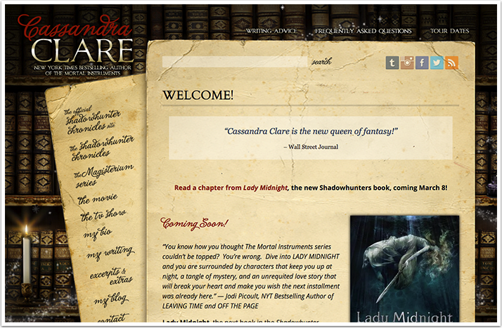Cassandra Clare's Website