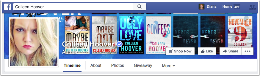 Colleen Hoover Facebook Page