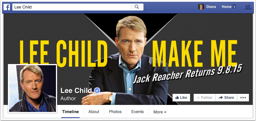 Lee Child Facebook Page