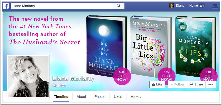 Liane Moriarty Facebook Page