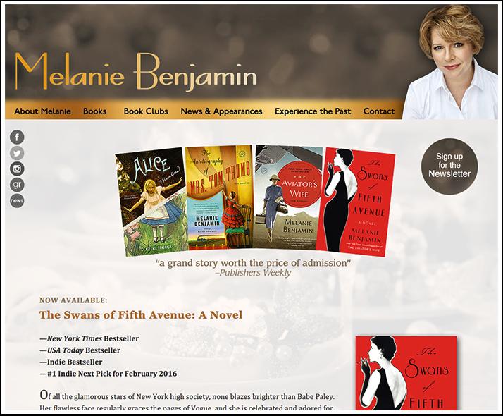 Melanie Benjamin's Website