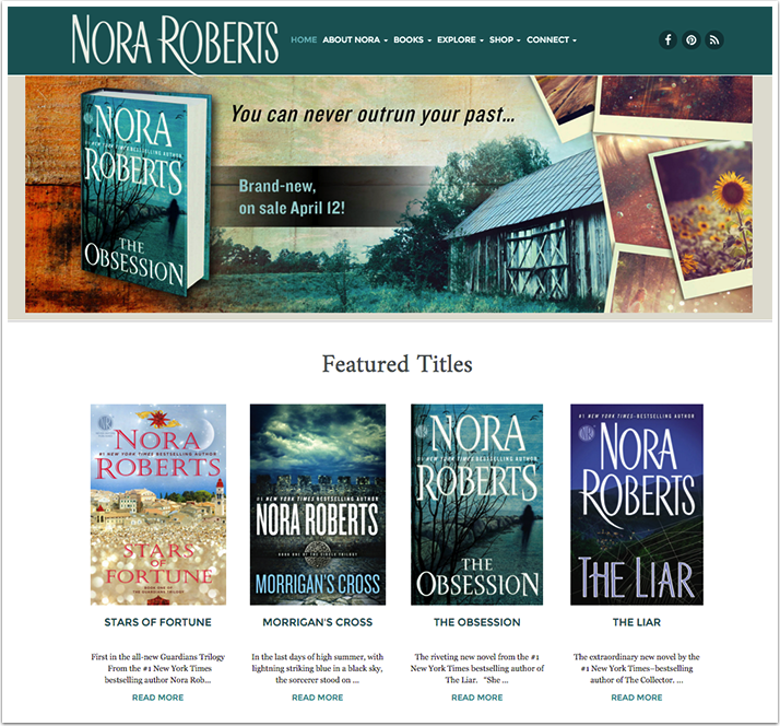 Nora Roberts's Website