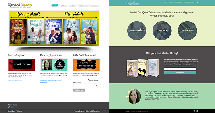 Author Website Redesign Case Study: Rachel Shane