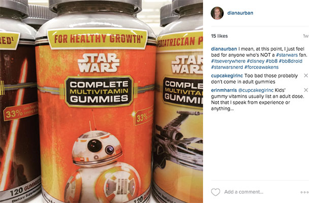 Star Wars Vitamins Instagram