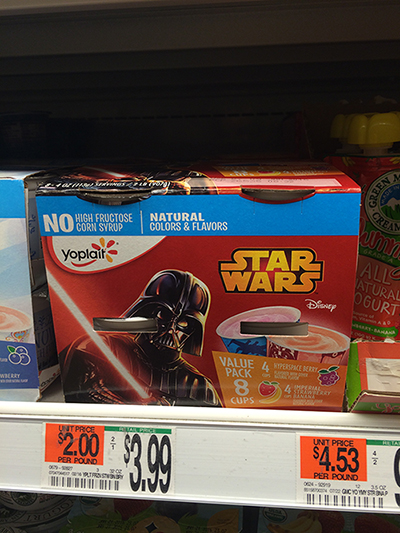 Star Wars Yogurt