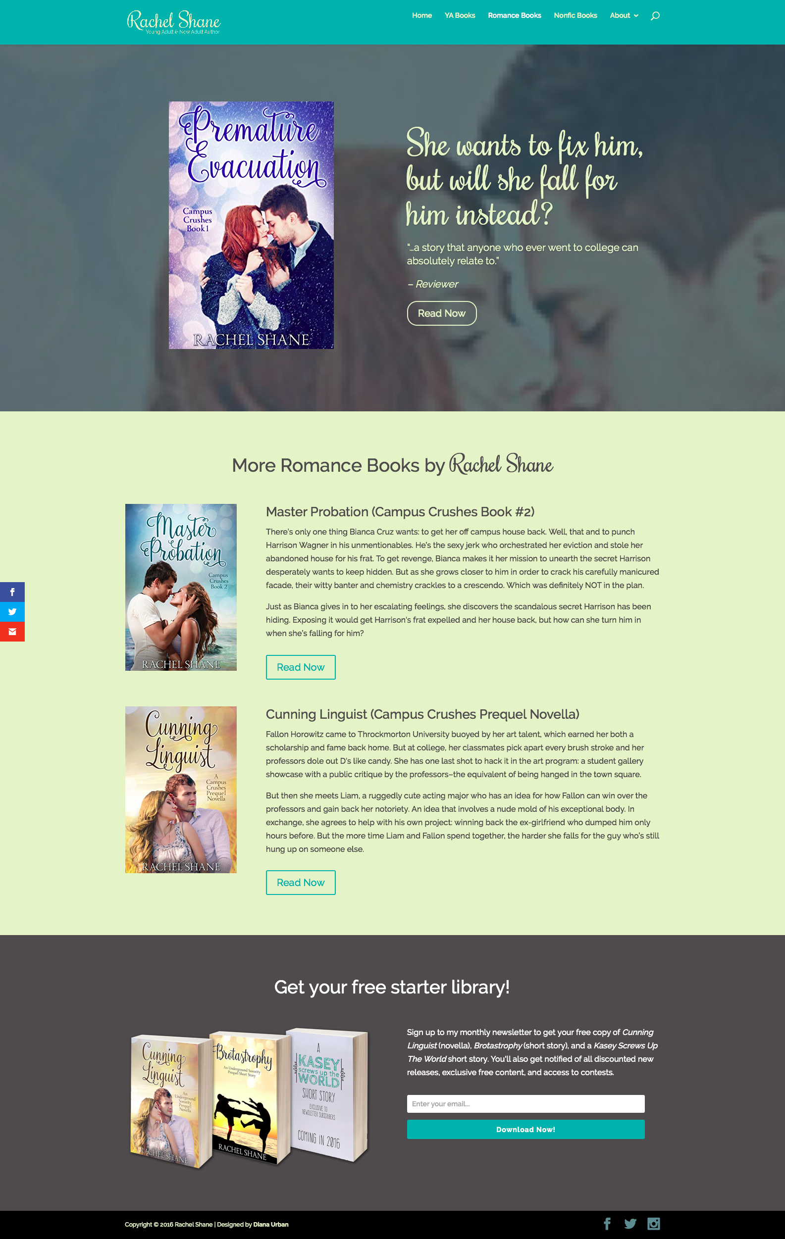 Rachel Shane's Romance Books