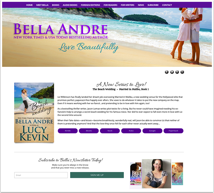 Bella Andre's Website