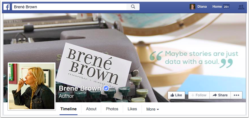Brene Brown Facebook page
