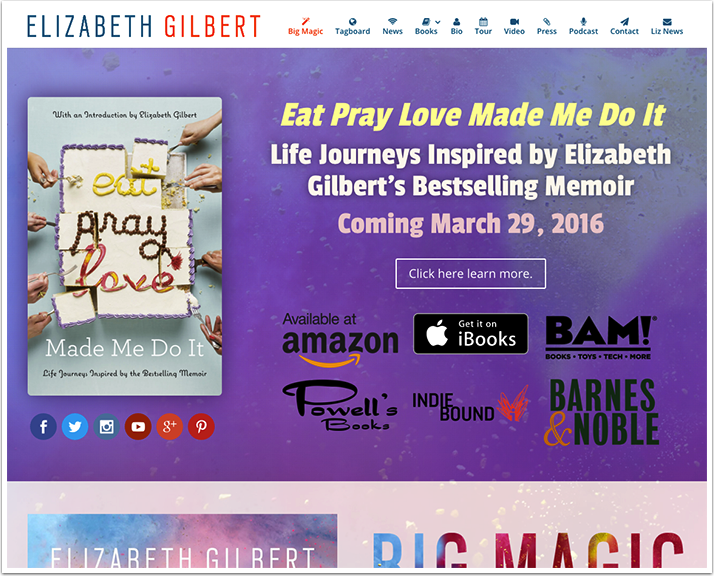 Elizabeth Gilbert's Website