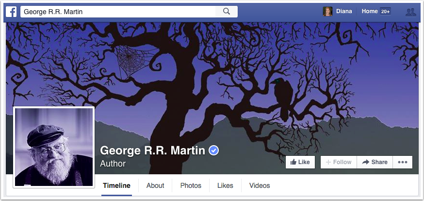 George RR Martin Facebook Page