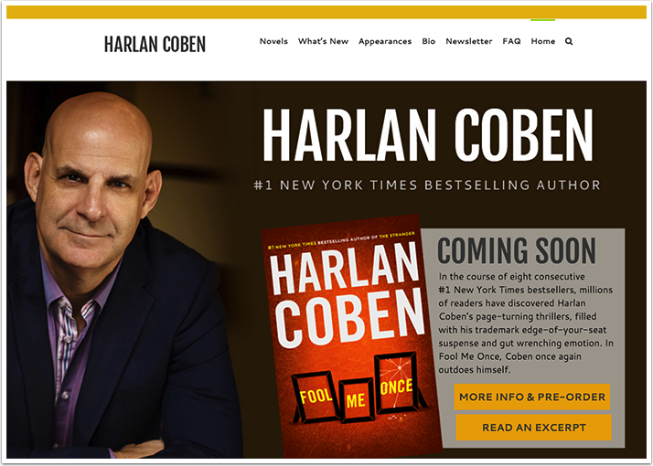 Harlan Coben's Website