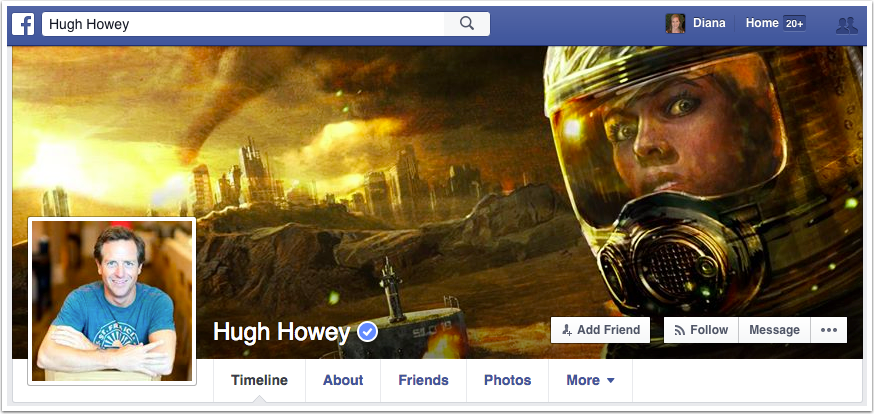 Hugh Howey Facebook Page