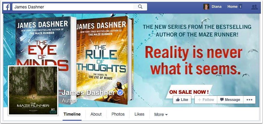 James Dashner Facebook Page