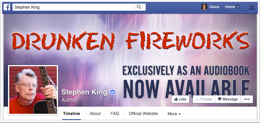 Stephen King Facebook Page