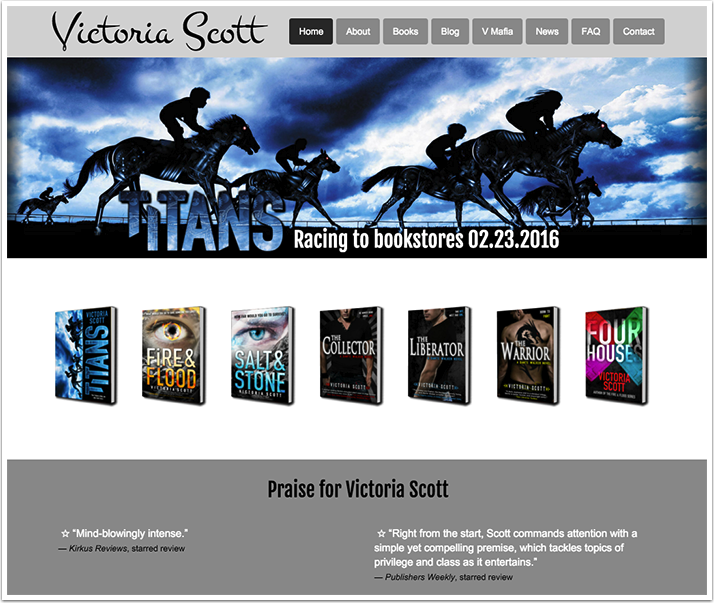 Victoria Scott's Website