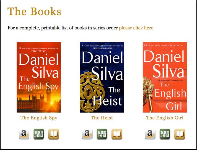 Daniel Silva's Books Page