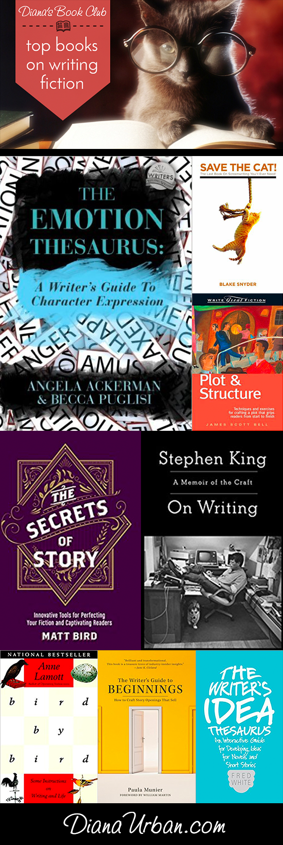 Top Books on Writing Fiction #amwriting #writetip