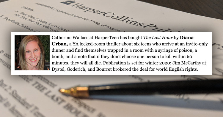 I Got a Book Deal! HarperTeen Will Publish THE LAST HOUR in 2020