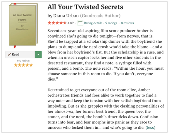 All Your Twisted Secrets description on Goodreads