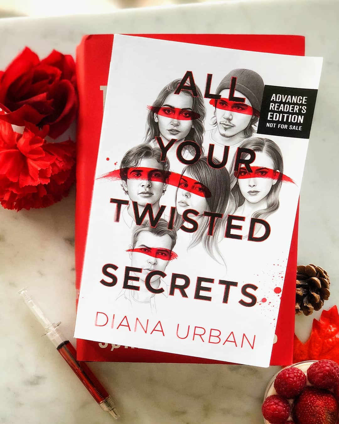 All Your Twisted Secrets with Red Flowers